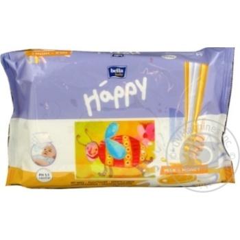 Серветки дитячі Happy А64 Milk-Honey 64шт