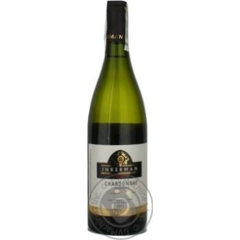 Wine chardonnay Inkerman white dry 14% 2011year 750ml glass bottle Ukraine