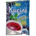 Kissel Eko with blueberries for desserts 90g packaged