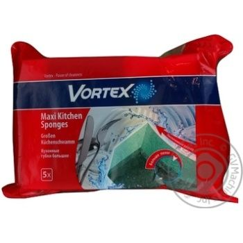 Губка кухонна велика Vortex 5шт - купить, цены на Novus - фото 1
