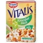 Мюсли Др.Оеткер Виталис хрустящие с изюмом и ростками пшеницы 375г Германия