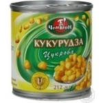 Vegetables corn Champion canned 212g can Ukraine