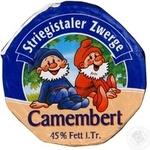 Сыр Штригисталер Цверге Камамбер мягкий с плесенью 45% 125г Германия