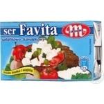 Сир Mlekovita Favita м'який солений 45% 270г