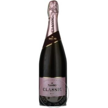 Вино ігристе Шабо ШШ витрим. Брют 0,75 л сух. рожеве