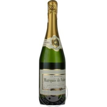 Вино ігристе біле напівсухе Marquis de Valny 0,75л