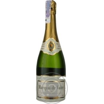 Вино ігристе біле брют Marquis de Valny 0,75л