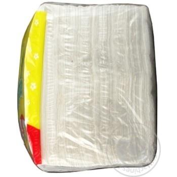 Салфетки Ruta Duo белые бумажные 1-слойные 24*24см 200шт - купить, цены на Novus - фото 5
