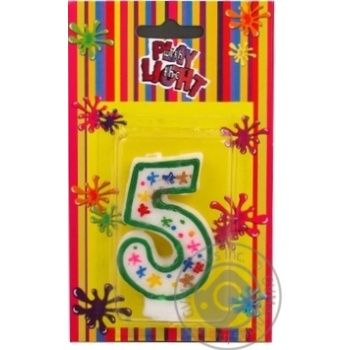 Свічка-цифра 5 Party Favors - купить, цены на Novus - фото 1