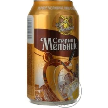 Пиво Старый Мельник Из Бочонка светлое 4.8%об. железная банка 750мл Россия