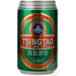 Пиво Циндао светлое 4.7%об. железная банка 330мл Китай