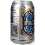 Nonalcoholic malt beer Faxe Free can 330ml Denmark