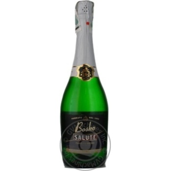 Вино ігристе Salute Bоsсo біле напівсолодке 13,5% 0,75л