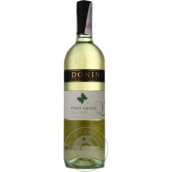 Вино Donini Pinot Grigio Provincia di Pavia біле сухе 12% 0,75л - купити, ціни на МегаМаркет - фото 1