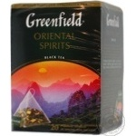 Tea Greenfield black packed 20pcs 36g cardboard packaging Russia
