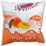 Йогурт питний 2,5% Вита Елітний персик-маракуя 0,4кг