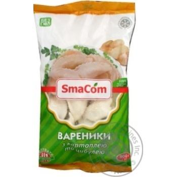 Вареники SmaCom з картоплею та цибулею заморожені 900г - купити, ціни на Novus - фото 2