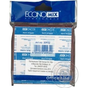 Стікер блок жовтий Economix Е20932 100шт/уп - купити, ціни на Метро - фото 2