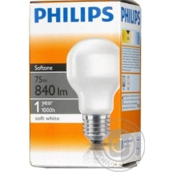 Лампа Philips Soft T55 звичайна 75w Е27