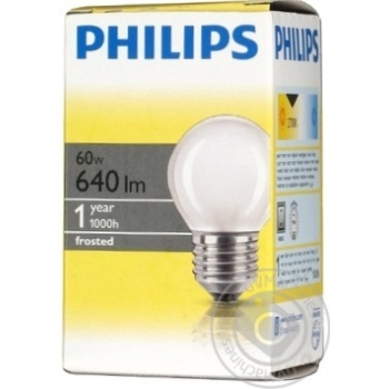 Philips Incandescent Lamp P45 60w E27 - buy, prices for Novus - image 7