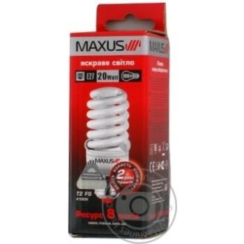 Лампа енергозберігаюча Maxus T2 FS 20w,4100K,E27