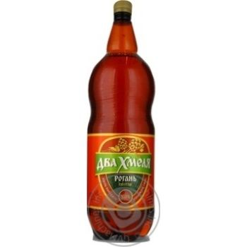 Beer Rogan light 5% 2000ml plastic bottle Ukraine