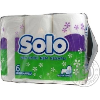 Рушник кухоний Solo білий 6шт - купить, цены на Novus - фото 2