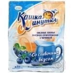 Хлопья овсяные Кунцево Кашка Минутка с черникой со сливочным вкусом 43г Россия