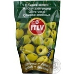 olive Itlv green pitted 195g doypack Spain