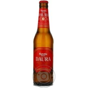 Пиво Эстрелла Дамм Даура солодовое стеклянная бутылка 5.4%об. 330мл Испания