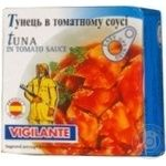 Fish tuna Vigilante in tomato sauce 80g can Spain
