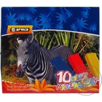 Пластилин Economix Afrika 10 цветов 200г - купить, цены на Novus - фото 3