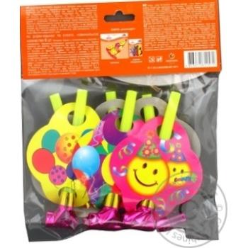 Дудки-язычки Eventa пластиковые с декором 6шт - купить, цены на Novus - фото 4