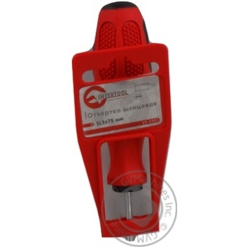 Викрутка шліцева SL3x75мм InterTool VT-3101 - купить, цены на Novus - фото 2