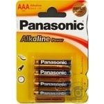 Батарейки Panasonic LR03 Alkaline Power ААА 4шт