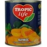 Fruit apricot Tropic life canned 850ml can