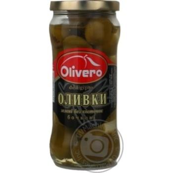 Olivero Barrel Green Pitted  Olives 350g
