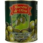 Оливки Маэстро де Олива гигантские с косточкой 3250мл Испания