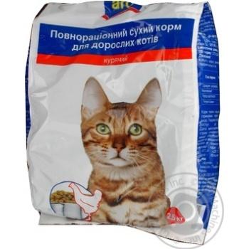 Корм Aro сухой полноценный с курицей для котов 2500г - купить, цены на Метро - фото 3