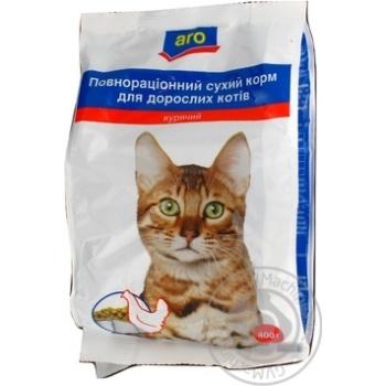 Корм Aro сухой полноценный с курицей для котов 400г - купить, цены на Метро - фото 4