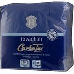Салфетка голубой бумажная 50шт 100г Италия