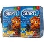 Сухі сніданки Старт пластівці кукурудзяні глазуровані 4х90г Україна