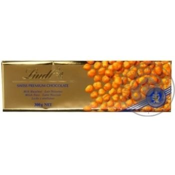 Chocolate milky Lindt with nuts bars 31% 300g