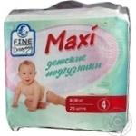 Diaper Fine dreaming for children 8-18kg 26pcs maxi Belgium