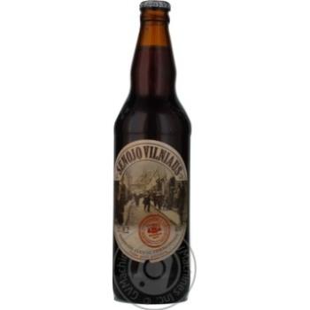 Пиво Вильнюс Алус Сенойо темное пастеризованное с пряностями стеклянная бутылка 8.2%об. 500мл Литва