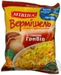 Макарони вермішель Мівіна зі смаком грибів 60г Україна