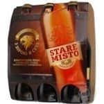 Beer Stare misto light 4.8% 6pcs 3000ml glass bottle Ukraine