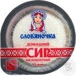 Творог Славяночка домашний кисломолочный 9% 340г Украина