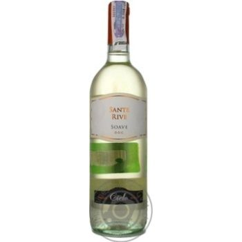 Вино Sante Rive Soave DOC белое сухое 12% 0,75л