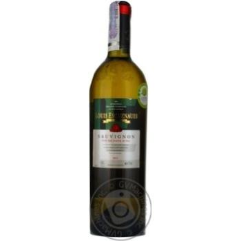 Вино белое Луи Эшенауер Совиньон Блан виноградное натуральное сухое 12% стеклянная бутылка 750мл Франция